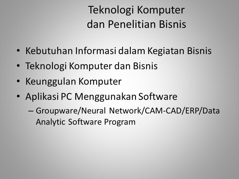 Teknologi Komputer dan Penelitian Bisnis