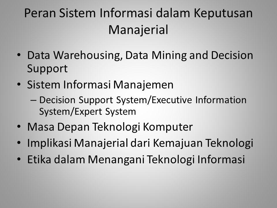 Peran Sistem Informasi dalam Keputusan Manajerial