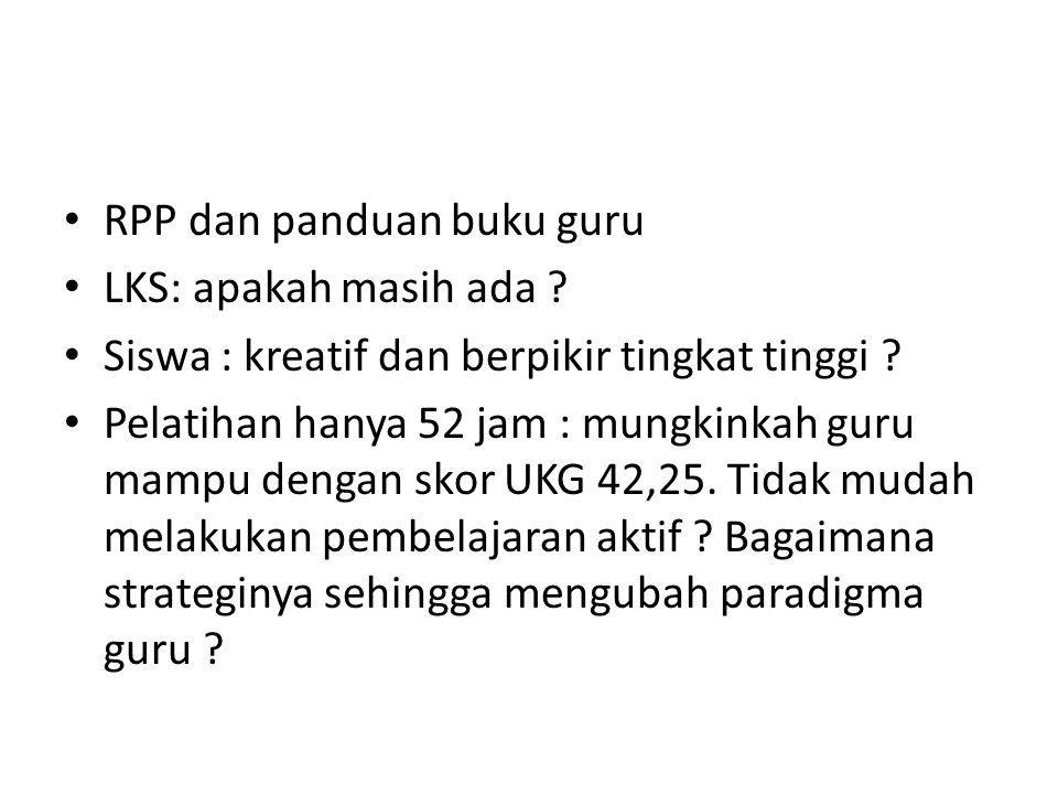 RPP dan panduan buku guru
