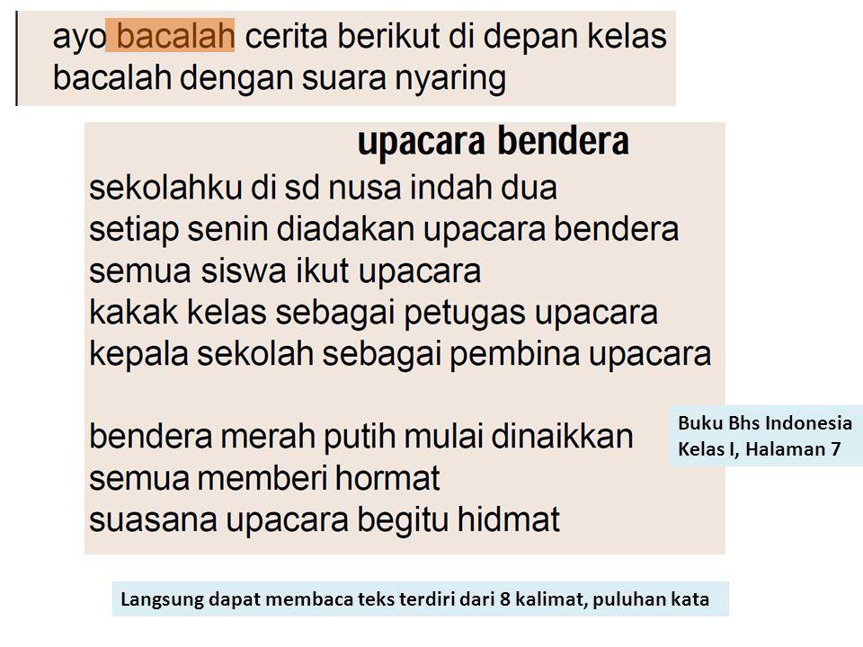 Buku Bhs Indonesia Kelas I, Halaman 7.