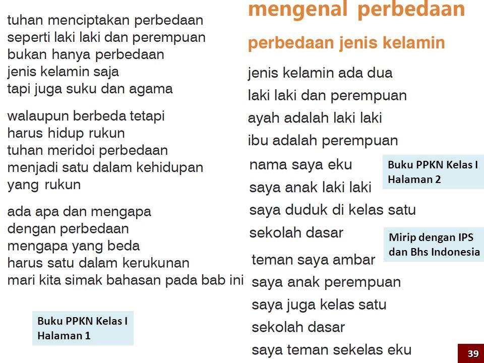 Buku PPKN Kelas I Halaman 2 Mirip dengan IPS dan Bhs Indonesia