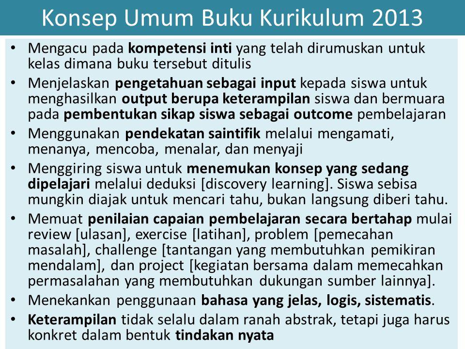 Konsep Umum Buku Kurikulum 2013