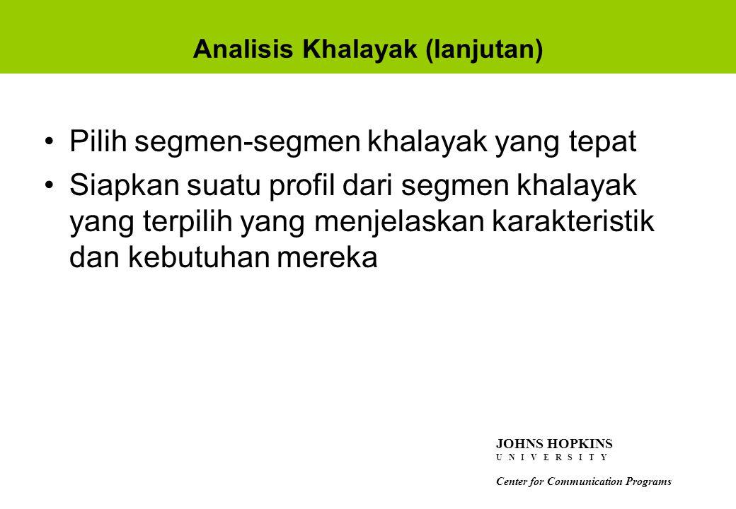 Analisis Khalayak (lanjutan)