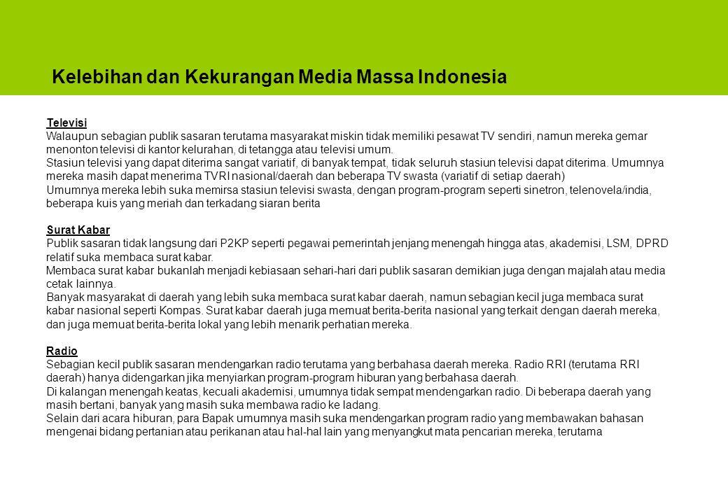 Kelebihan dan Kekurangan Media Massa Indonesia