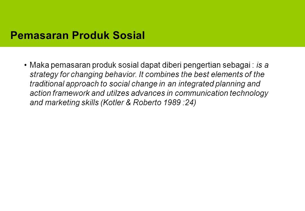 Pemasaran Produk Sosial