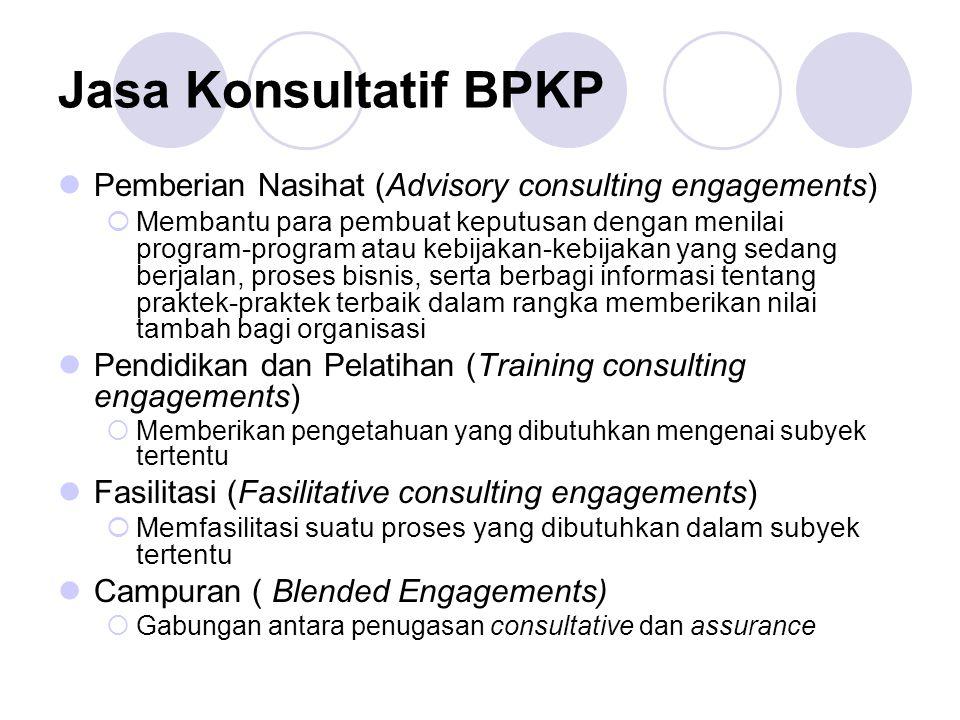 Jasa Konsultatif BPKP Pemberian Nasihat (Advisory consulting engagements)