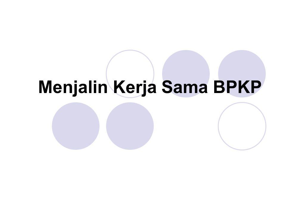 Menjalin Kerja Sama BPKP