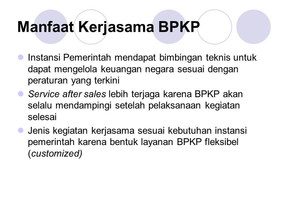 Manfaat Kerjasama BPKP