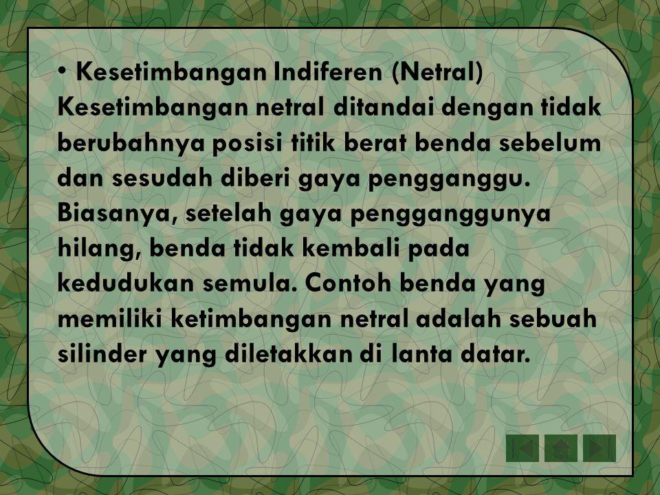 Kesetimbangan Indiferen (Netral)