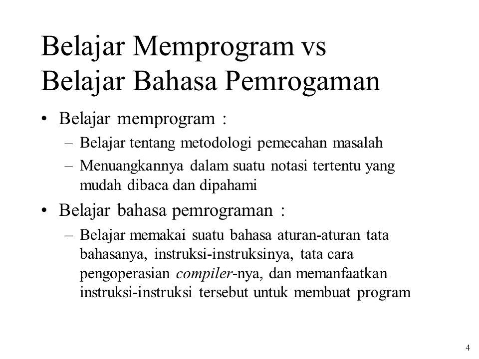 Belajar Memprogram vs Belajar Bahasa Pemrogaman