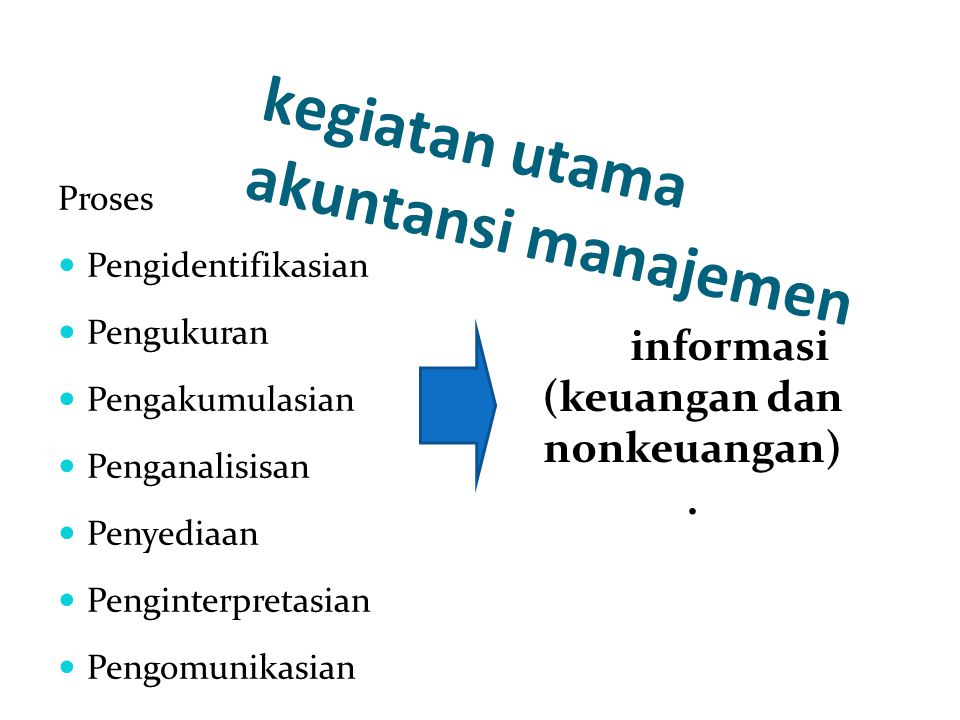 kegiatan utama akuntansi manajemen