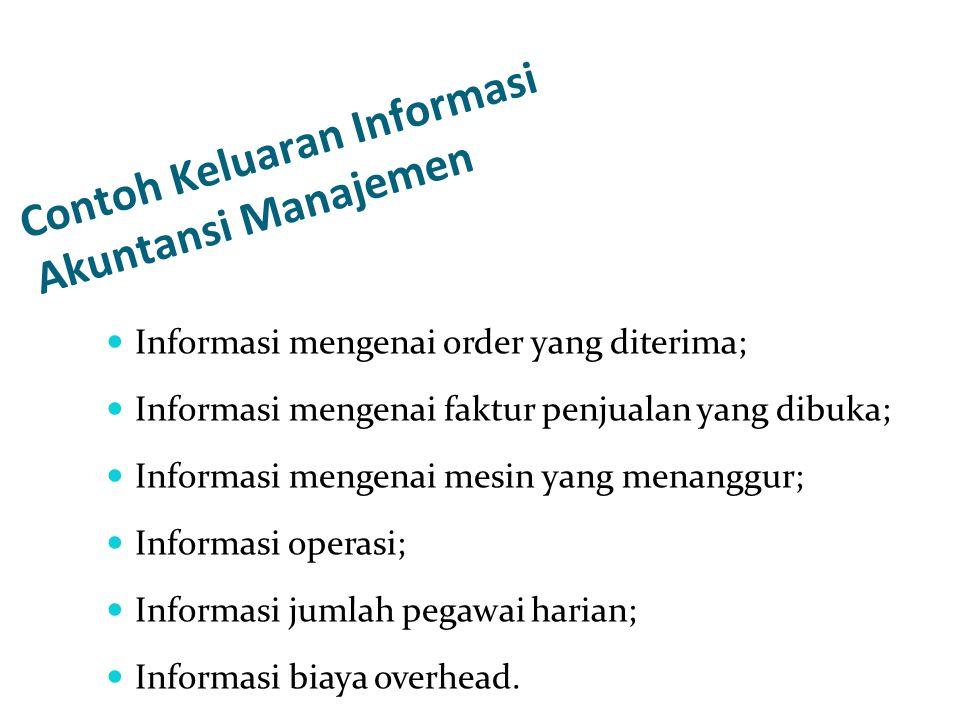 Contoh Keluaran Informasi Akuntansi Manajemen