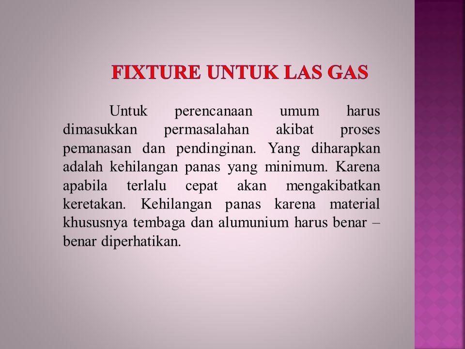 Fixture untuk las gas