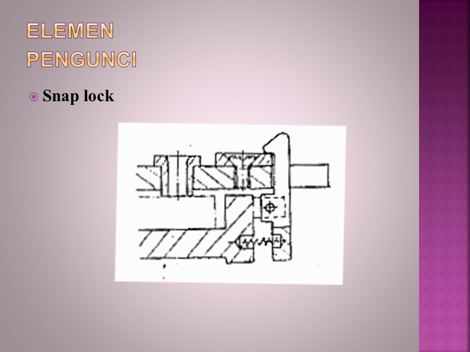 Elemen Pengunci Snap lock