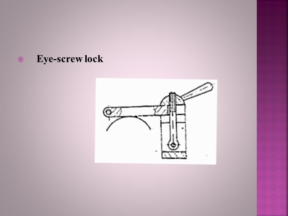 Eye-screw lock