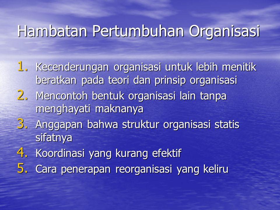 Hambatan Pertumbuhan Organisasi