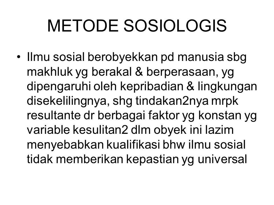 METODE SOSIOLOGIS