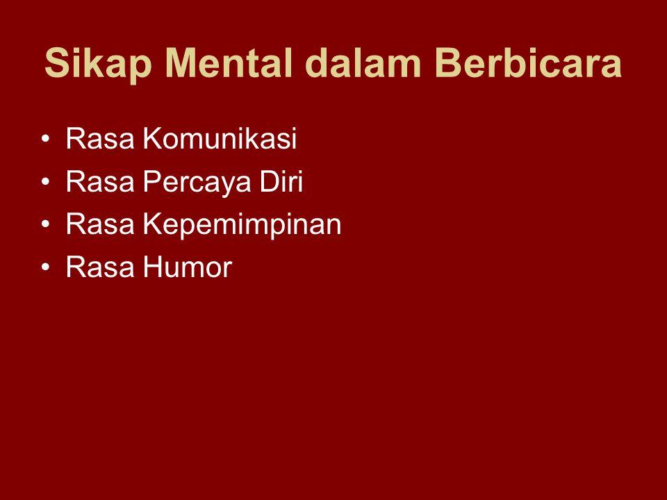 Sikap Mental dalam Berbicara