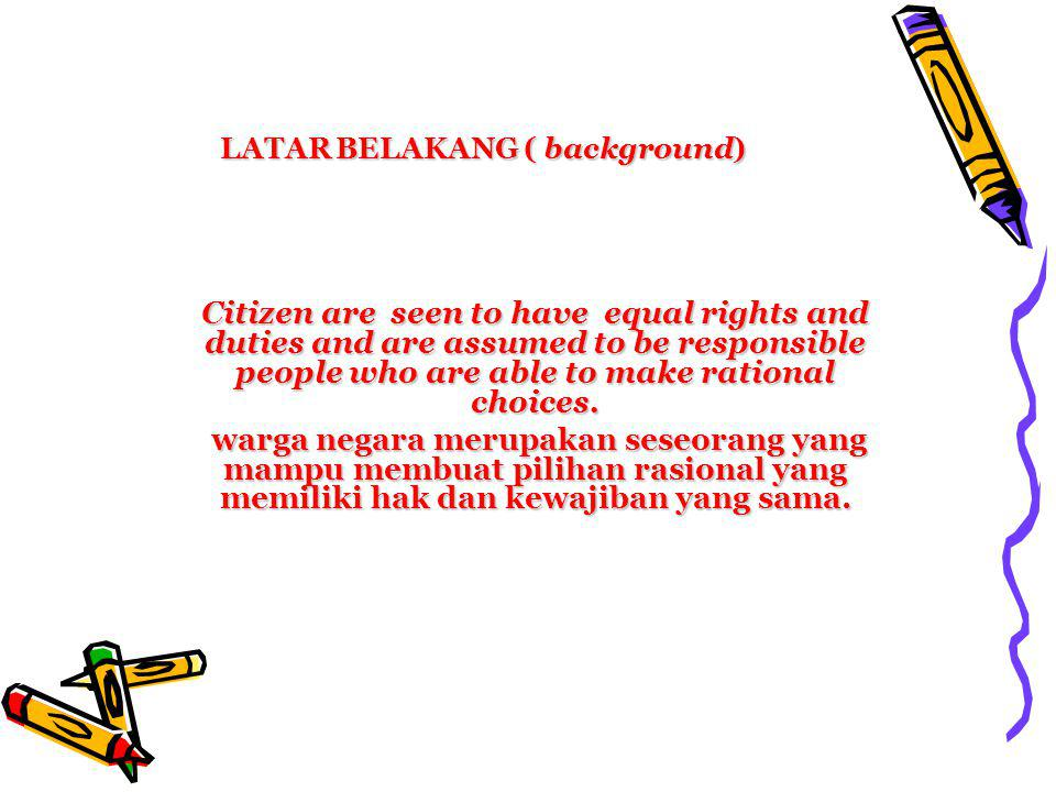 LATAR BELAKANG ( background)