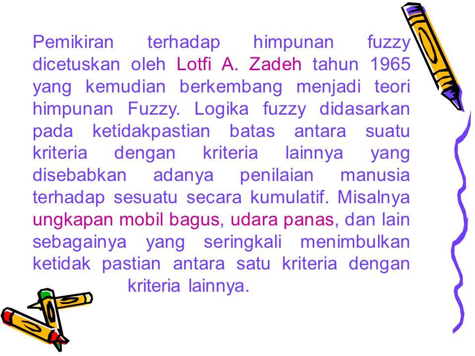 Pemikiran terhadap himpunan fuzzy dicetuskan oleh Lotfi A