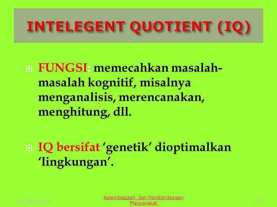 INTELEGENT QUOTIENT (IQ)