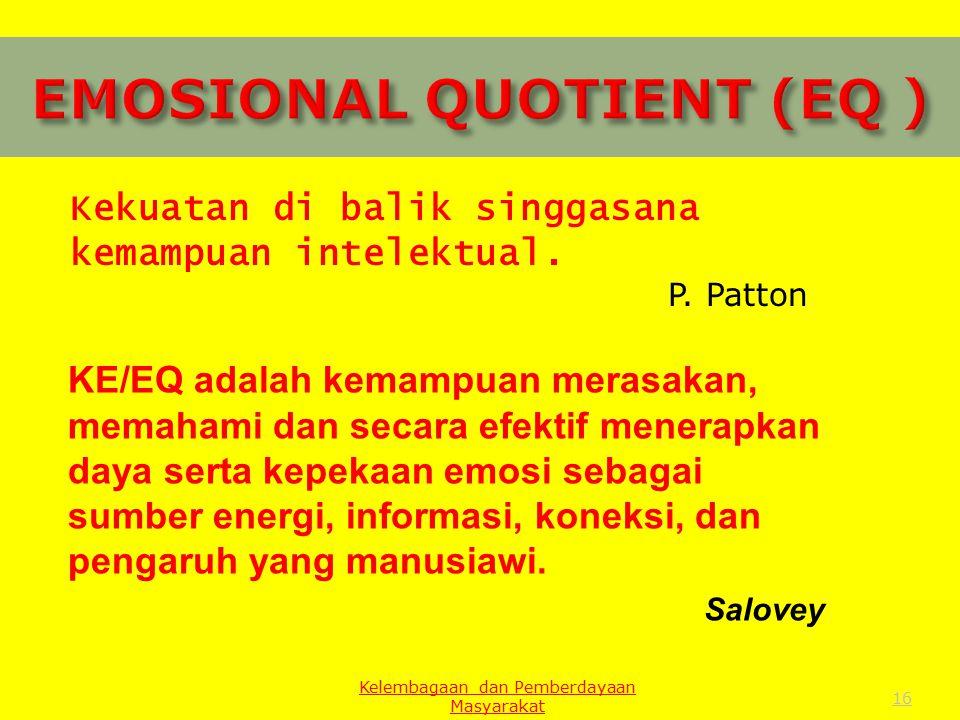 EMOSIONAL QUOTIENT (EQ )