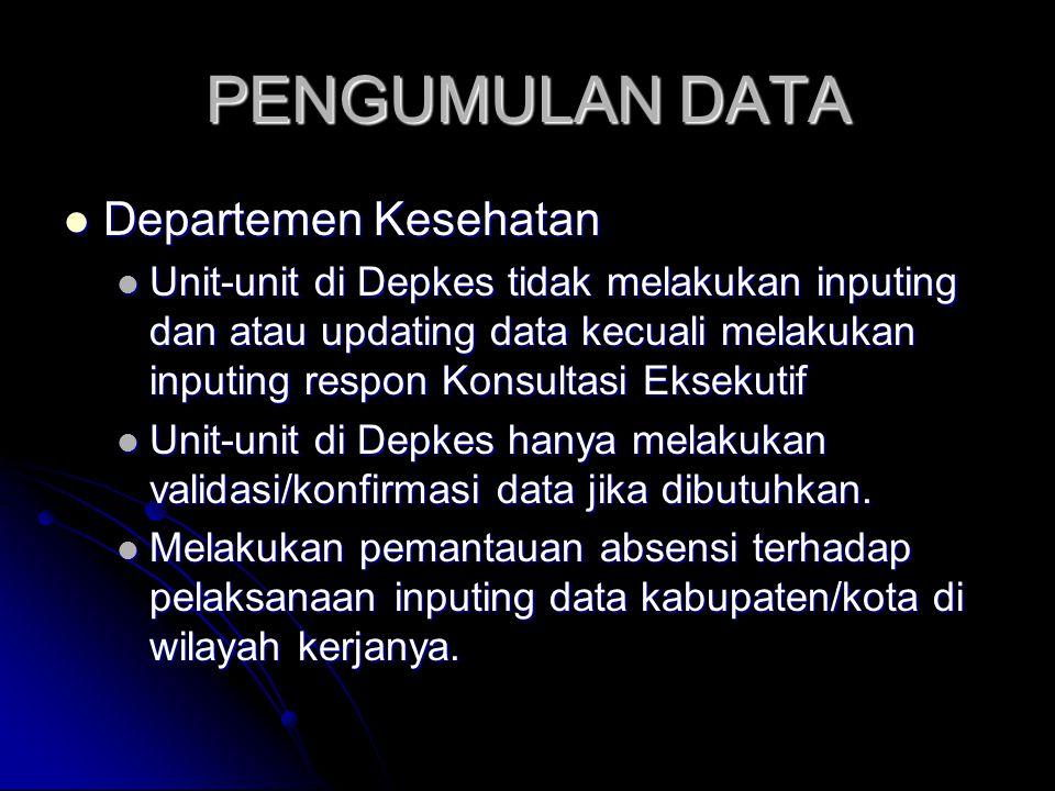 PENGUMULAN DATA Departemen Kesehatan