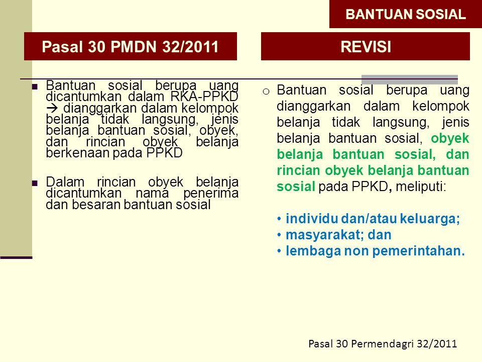 Pasal 30 PMDN 32/2011 REVISI BANTUAN SOSIAL