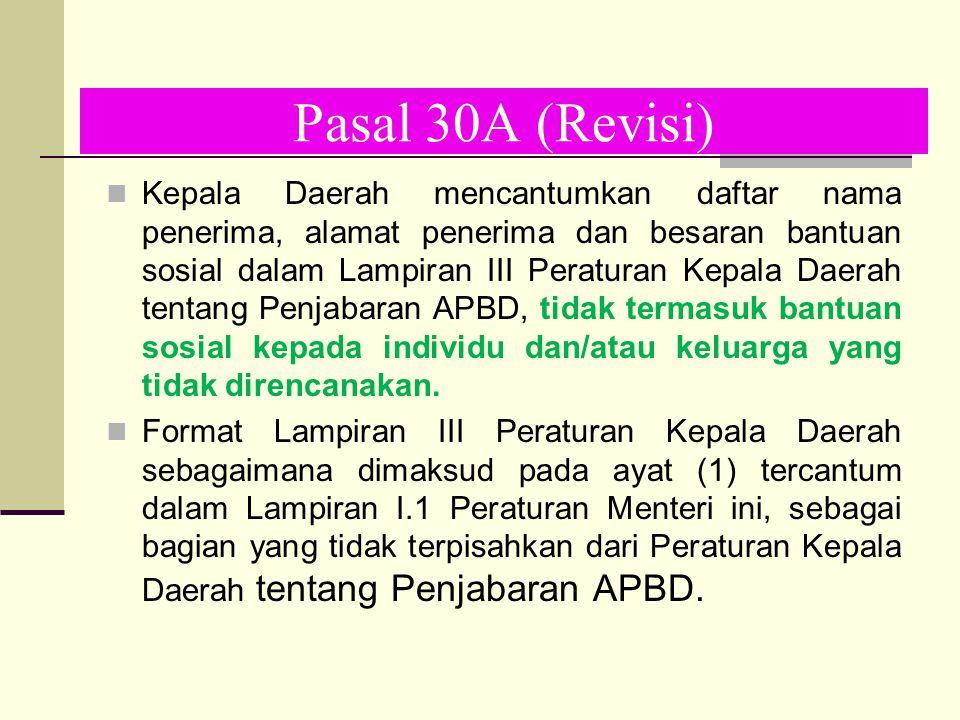 Pasal 30A (Revisi)