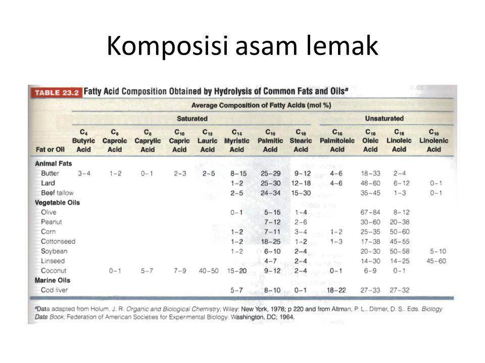 Komposisi asam lemak
