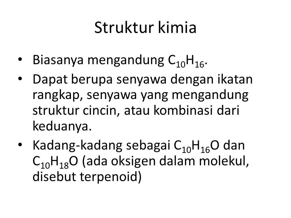 Struktur kimia Biasanya mengandung C10H16.
