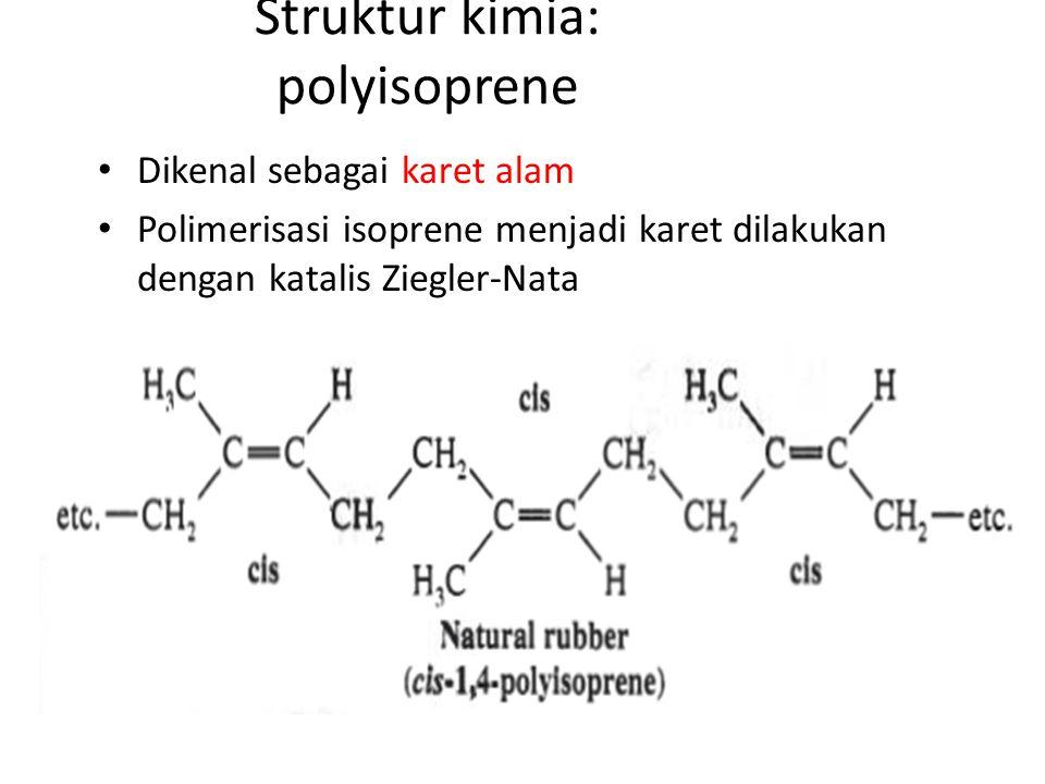 Struktur kimia: polyisoprene