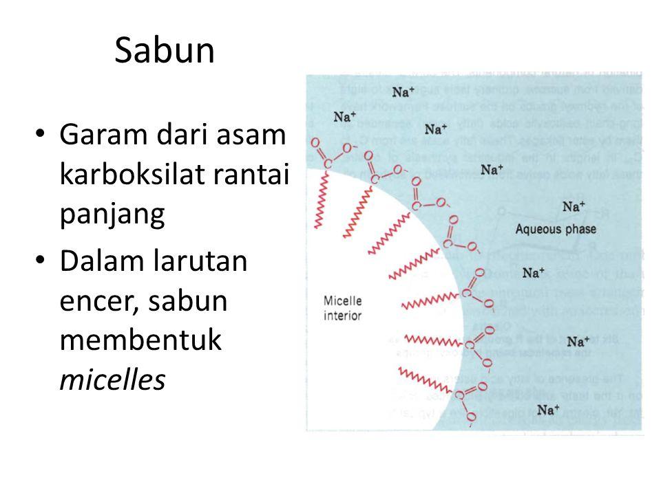 Sabun Garam dari asam karboksilat rantai panjang