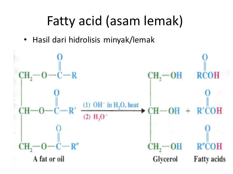 Fatty acid (asam lemak)