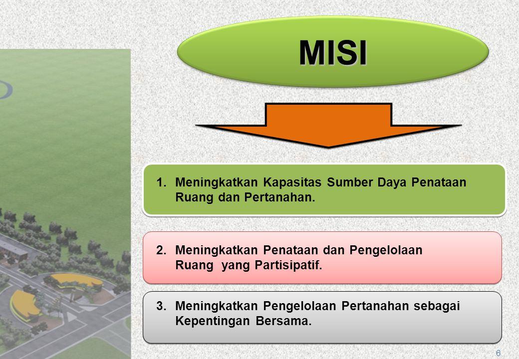 MISI Meningkatkan Kapasitas Sumber Daya Penataan Ruang dan Pertanahan.
