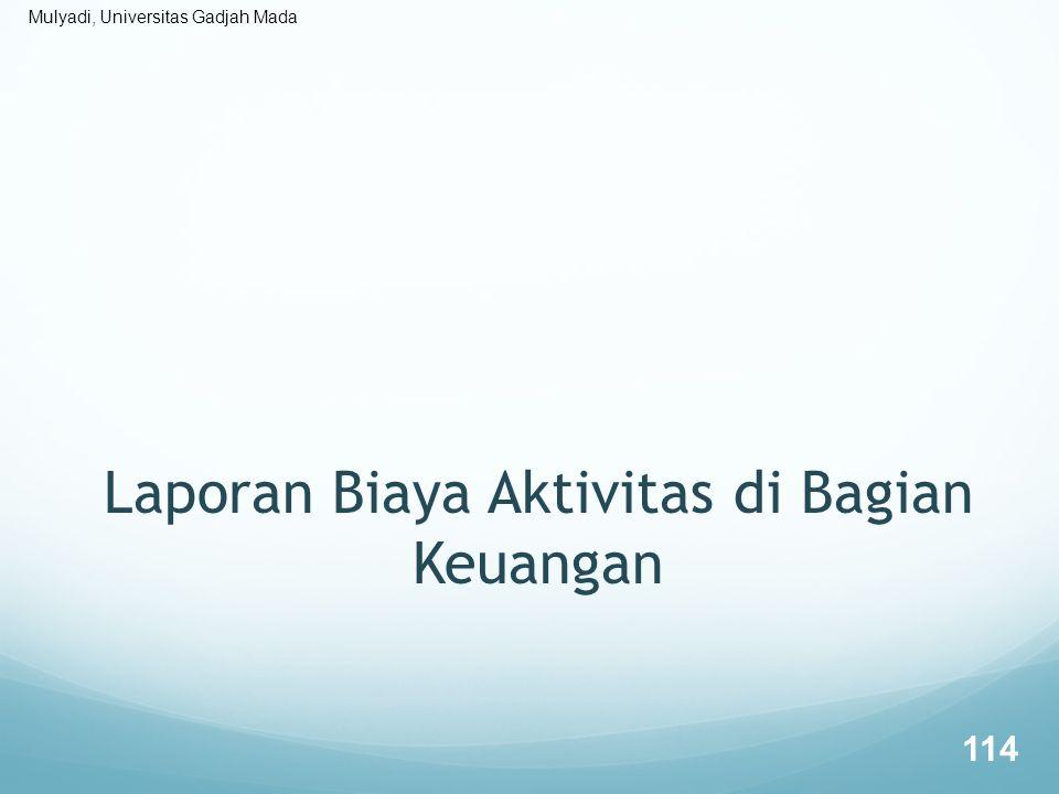 Laporan Biaya Aktivitas di Bagian Keuangan