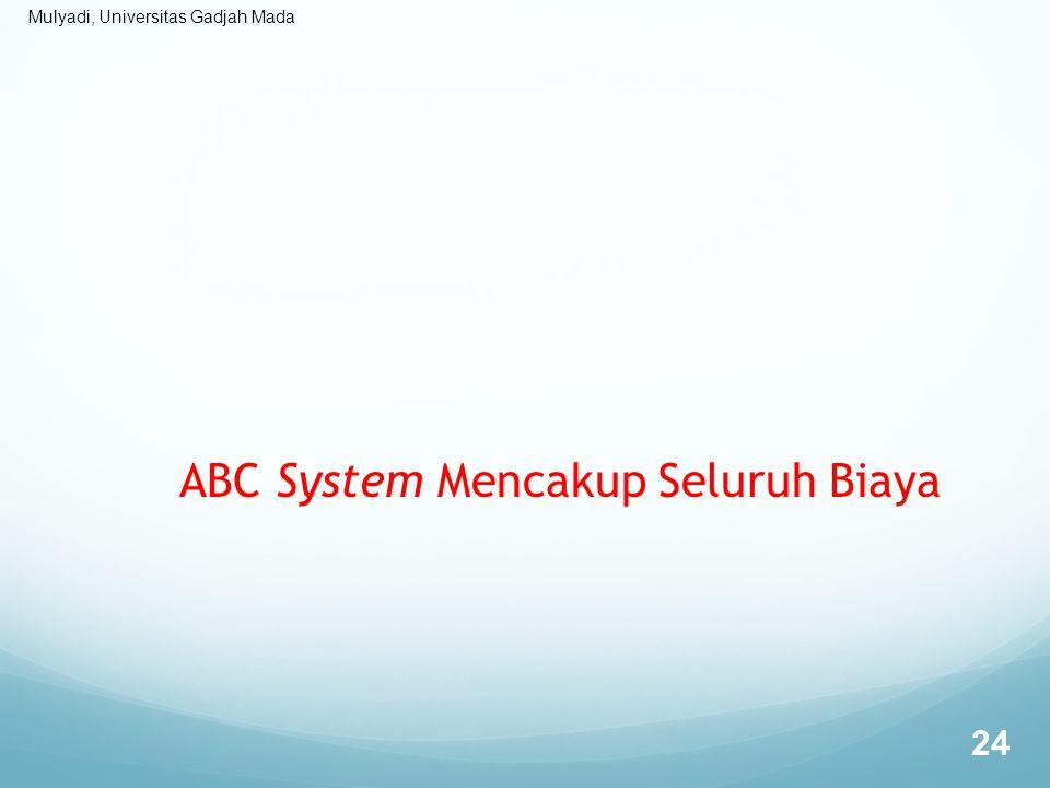 ABC System Mencakup Seluruh Biaya