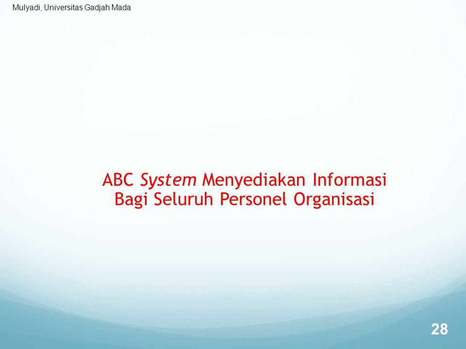 ABC System Menyediakan Informasi Bagi Seluruh Personel Organisasi
