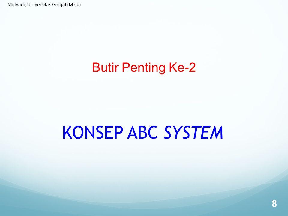 Butir Penting Ke-2 KONSEP ABC SYSTEM
