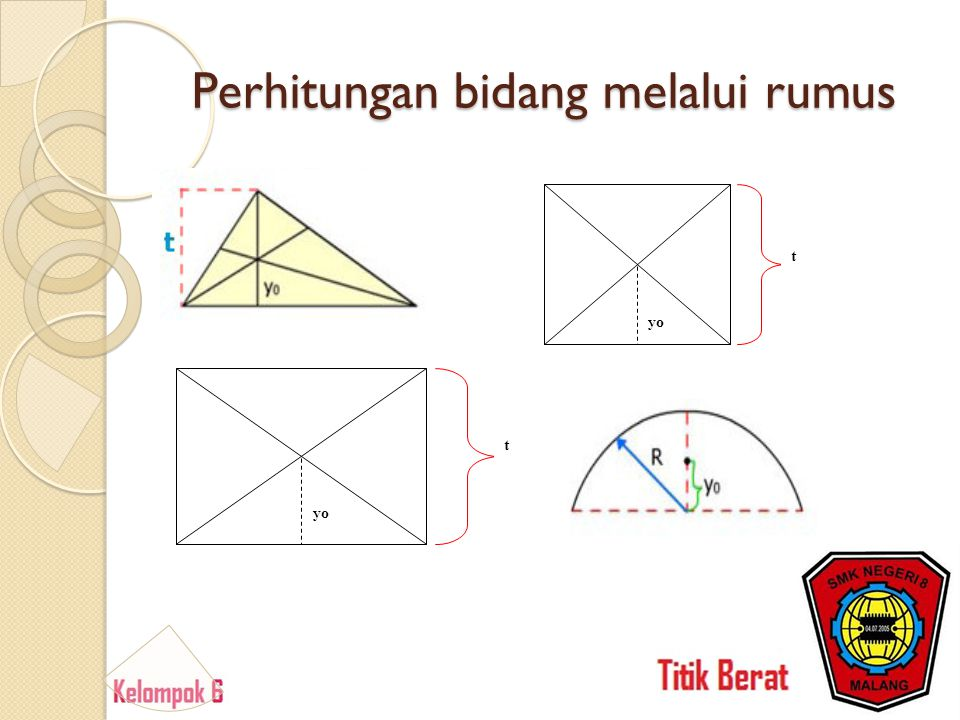 Perhitungan bidang melalui rumus