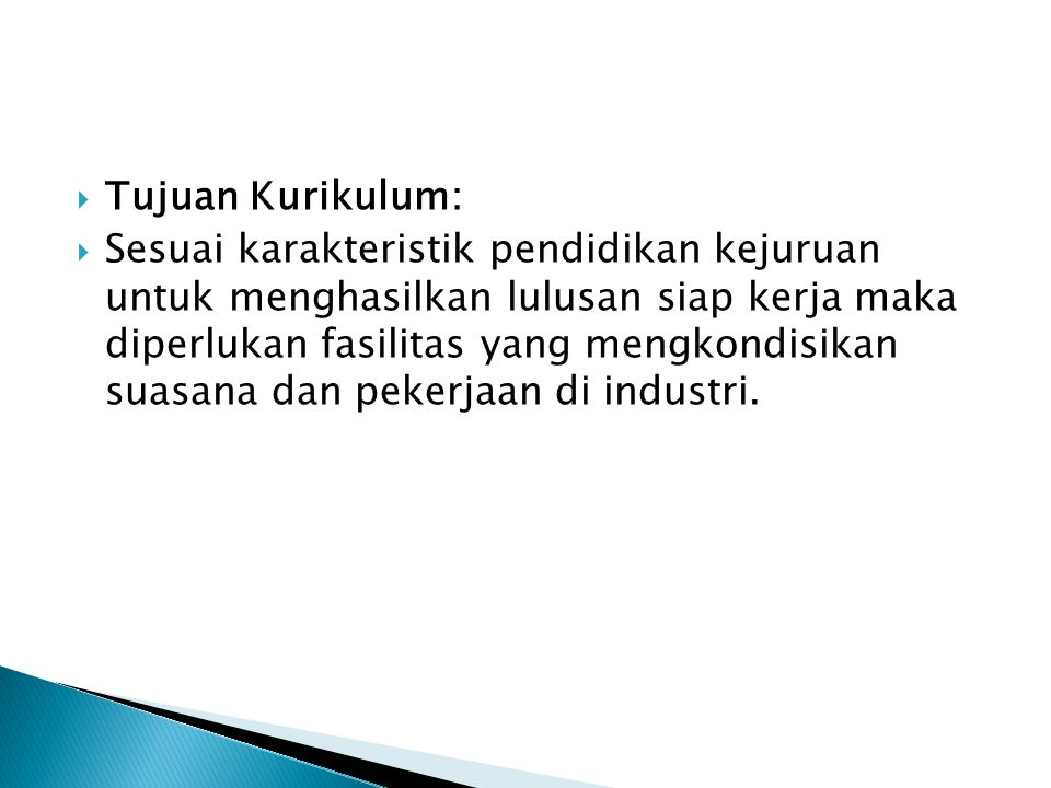 Tujuan Kurikulum: