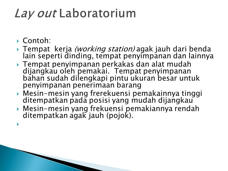 Lay out Laboratorium Contoh: