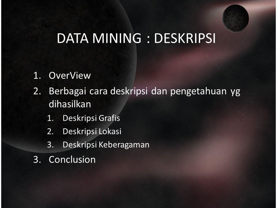 DATA MINING : DESKRIPSI
