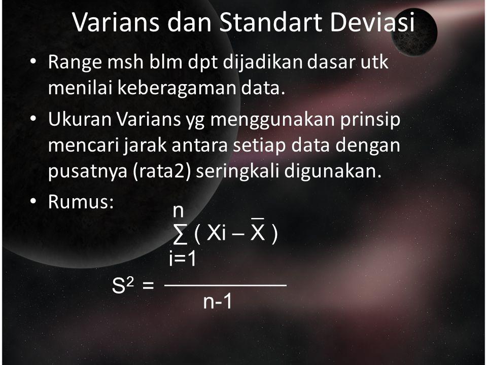 Varians dan Standart Deviasi