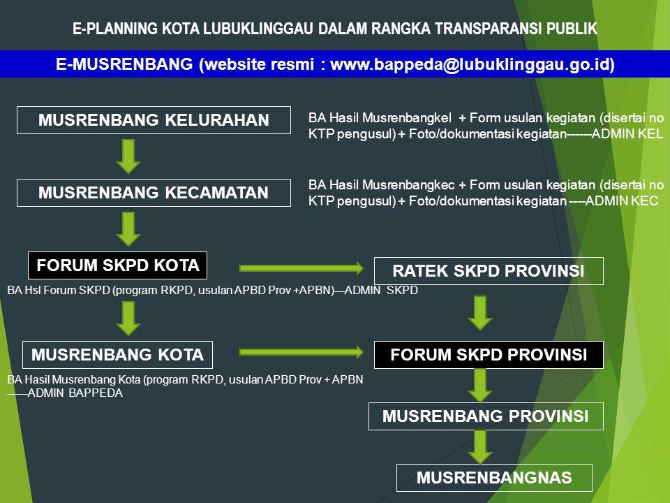 E-PLANNING KOTA LUBUKLINGGAU DALAM RANGKA TRANSPARANSI PUBLIK
