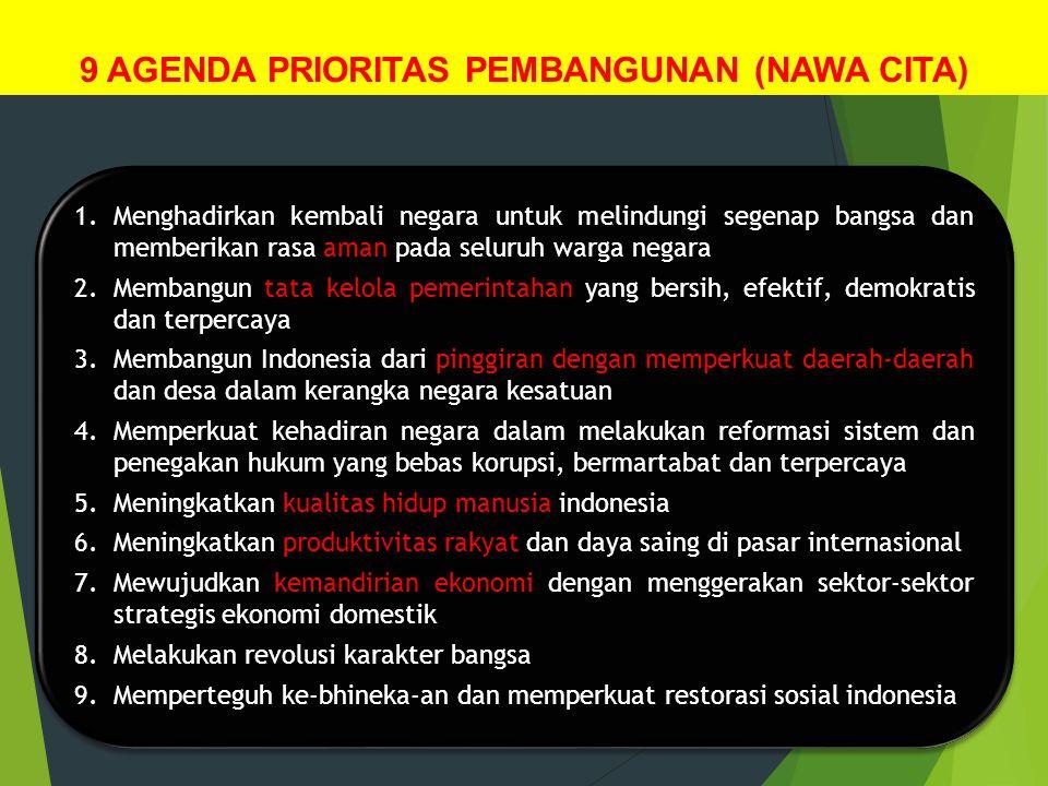 9 AGENDA PRIORITAS PEMBANGUNAN (NAWA CITA)