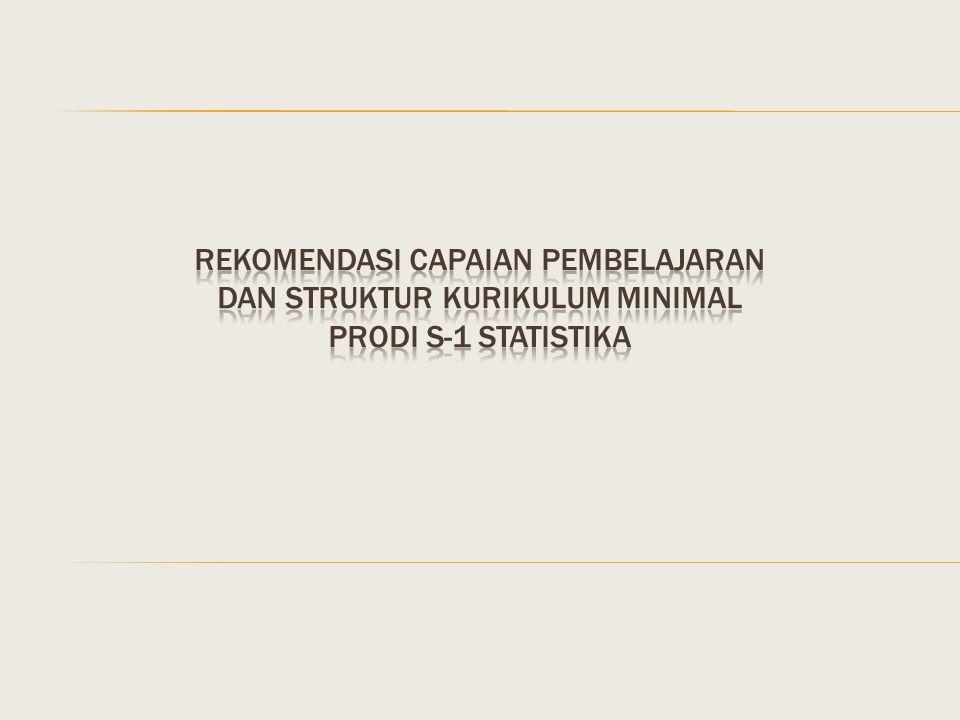 REKOMENDASI Capaian pembelajaran DAN STRUKTUR KURIKULUM MINIMAL PRODI S-1 STATISTIKA