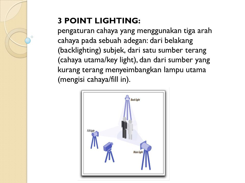 3 POINT LIGHTING: