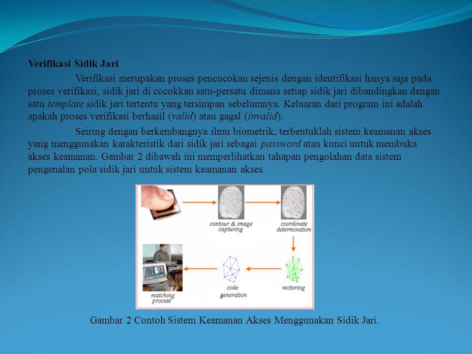 Gambar 2 Contoh Sistem Keamanan Akses Menggunakan Sidik Jari.