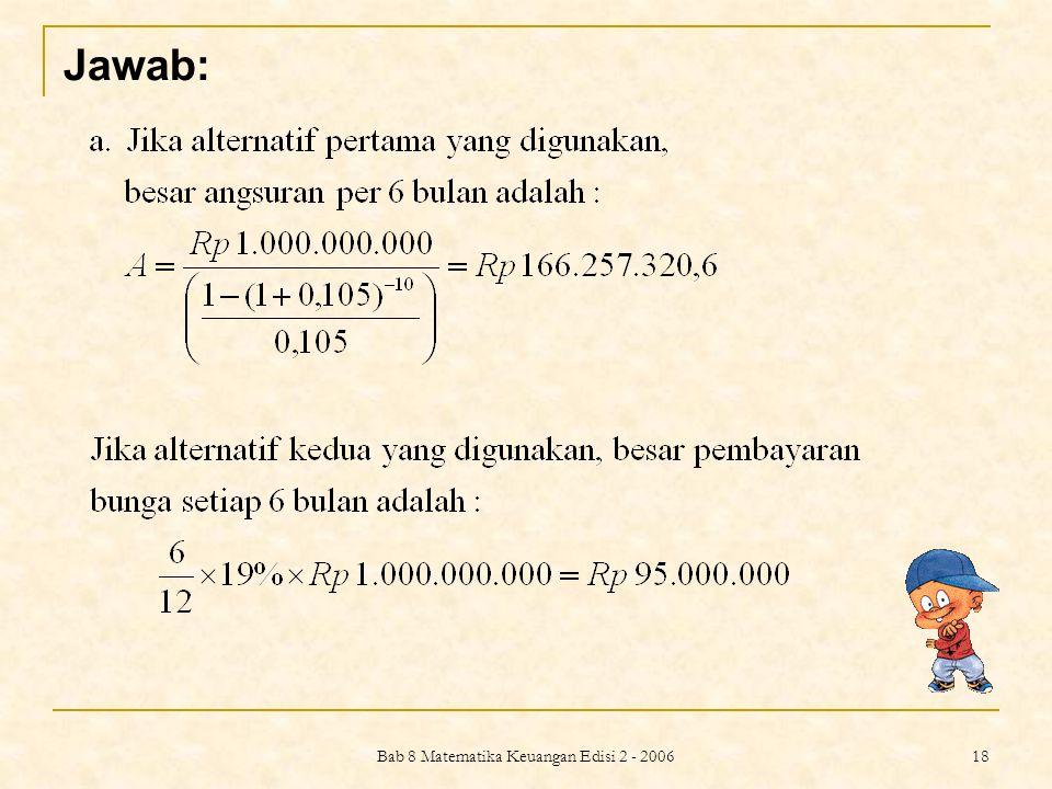 Bab 8 Matematika Keuangan Edisi 2 - 2006
